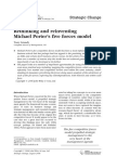 Rethinking and Reinventing Michael Porter's Five Forces Model