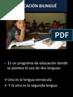 EDUCACIÓN BILINGUË