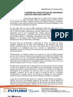 MARCOS FLORES SOBREPASA EXPECTATIVAS DE ASISTENCIA Y CADA DÍA GANA MÁS ADEPTOS 17-06-2013