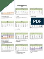 Calendario EaD 2013