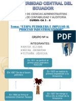 Ecuador su etapa Petrolera y la Industria