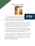 Biografía de Luisa Cáceres de Arismendi