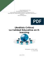 Calidad Educación en el E-learning