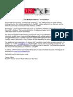 Social Media Guidelines, CIPR 2006