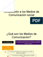 Introduccion a La Comunicacion Social