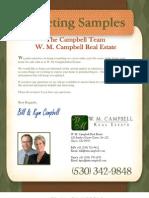 WMC Marketing Samples
