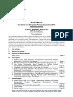 Executive Committee Agenda | April 2011