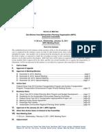 Executive Committee Agenda | January 2011