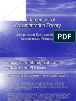Fundamentals of Argumentation Theory Curs 4 (Unexpressed Standpoints and Unexpressed Premises)