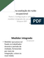 Operação e configuração do Dosimetro