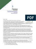 Letra en español al personal del distrito escolar de Renton, padres con respecto a gripe de los cerdos