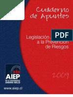 Cuaderno de Apuntes Legislación Aplicada a la Prev. de Riesgos