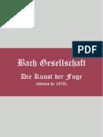 Die Kunst Der Fuge Johann Sebastian Bach