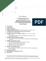 TAG Agenda | August 2012
