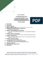 TAG Agenda | February 2012