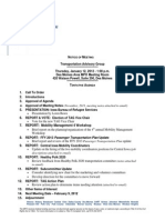 TAG Agenda | January 2012