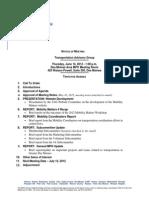 TAG Agenda | June 2012