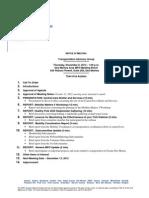 TAG Agenda | November 2012