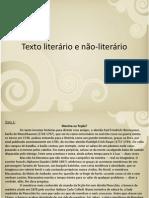 Texto literário e não-literário