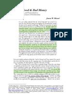 Cheap Food and Bad Money - Jason W. Moore, 2012 (Forthcoming)