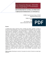 O CURRÍCULO COMO INSTRUMENTO CENTRAL DO PROCESSO EDUCATIVO