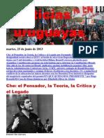 Noticias Uruguayas Martes 25 de Junio Del 2013