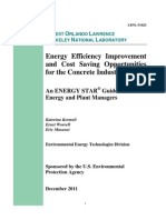 Energy Efficieny Improvement Cost Saving Opportunities Concrete