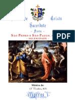 VÉSPERAS I - SÃO PEDRO E SÃO PAULO