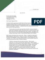 US Airways Charlotte Hub Letter to Sen. Hagan