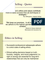 Ethics in Selling