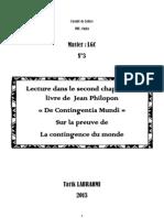 La Contingence Du Monde