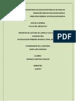 Reportes de Lectura de La Asignatura de Lengua y Cultura III