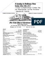 Parish Bulletin for June 30, 2013