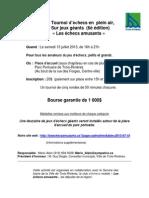 Annonce Promotionnelle Tournoi Adulte Parc Portuaire 2013
