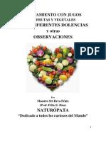 Tratamiento Con Jugos de Frutas y Vegetales Para Diferentes Dolencias