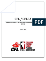 Cfl Cflpa Drug Policy