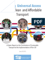 Creating Universal Access to Safe, Clean and Affordable Transport