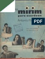 Musica - Metodo - Fisarmonica - M_todo Mirim Para Acordeon - Ant_nio Pieroni - 65p