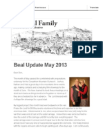 Beal Prayer Letter May 2013