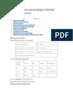 Modelo de informe psicopedagógico individual