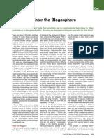 Scientists Enter the Blogosphere