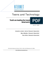 Teens and Technology, PEW Internet 2005