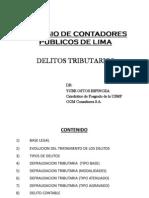 Colegio de Contadores Delitos Tributarios 2013