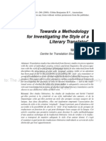 Towards a Methodology stylistics