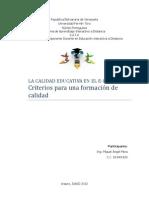 La Calidad Educativa en El e