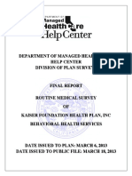 DMHC 2012 Survey
