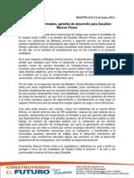 Compromisos firmados, garantía de desarrollo para Zacatlán