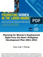 Session 6. MIRANDA_Philippine Development Plan 2011-2013
