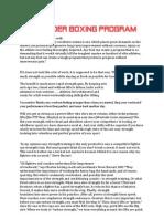 Highlander Boxing Program