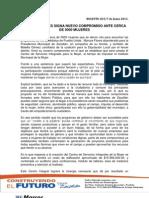 MARCOS FLORES SIGNA NUEVO COMPROMISO ANTE CERCA DE 5000 MUJERES 07-06-2013